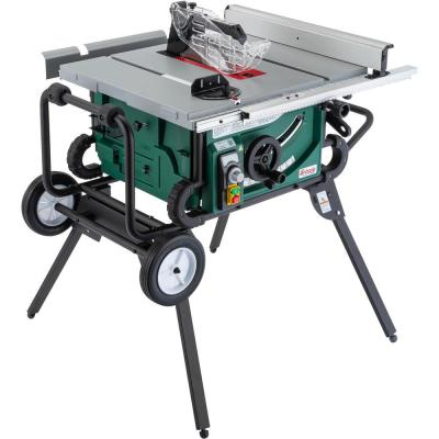 10 in. 2 HP Portable Table Saw with Roller Stand