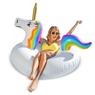 Unicorn Pool Float Party Tube Float-In Style (for Adults and Kids)