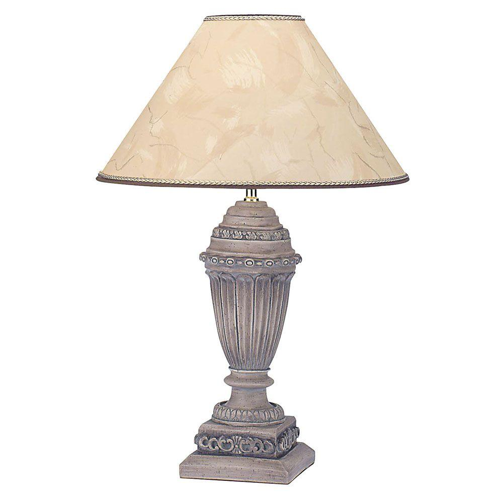 ORE International 30 in. Poly Resin Gold Table Lamp