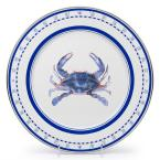 12.5 in. Blue Crab Enamelware Round Charger Plate