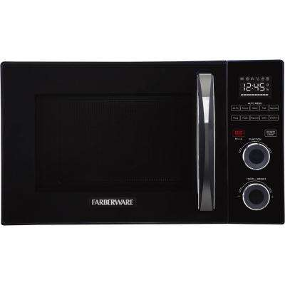 Gourmet 1.0 cu. Ft. 1000-Watt Countertop Microwave Oven with Healthy Air Fry and Grill/Convection Function in Black