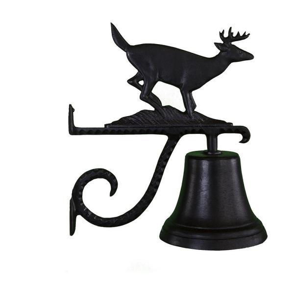 Cast Bell with Black Buck Ornament