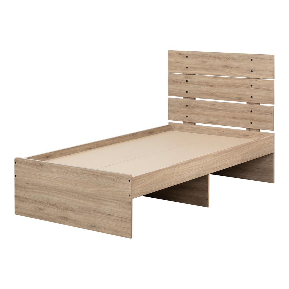 South shore fakto rustic oak twin bed