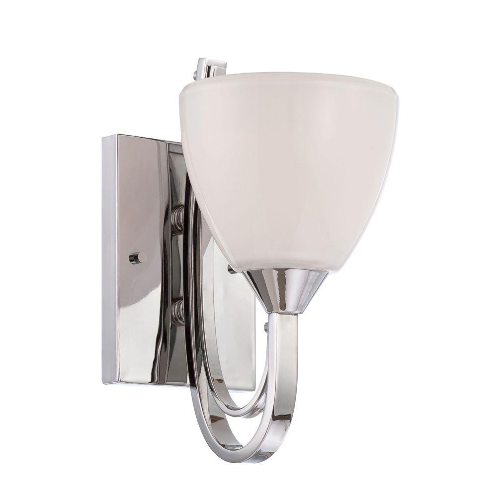 Cortona 1-Light Chrome Interior Incandescent Bath Vanity Light