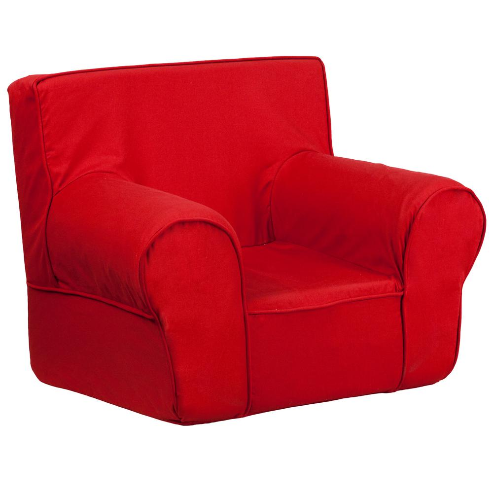 FLASH Small Solid Red Kids Chair