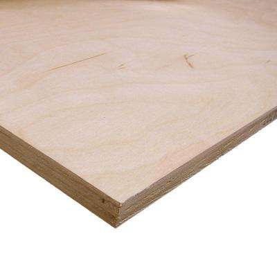 Birch Plywood (Common: 1/2 In. X 2 Ft. X 4