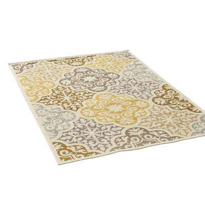 Winnett Multi-Colored 5 ft. x 8 ft. Ornate Floral Indoor/Outdoor Area Rug