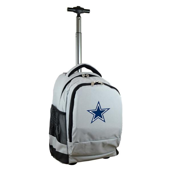 Denco NFL Dallas Cowboys 19 in. Gray Wheeled Premium Backpack NFDCL780_GY