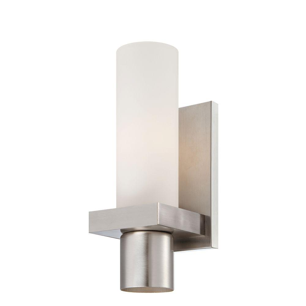 Eurofase Pillar Collection 2-Light Brushed Nickel Wall Sconce