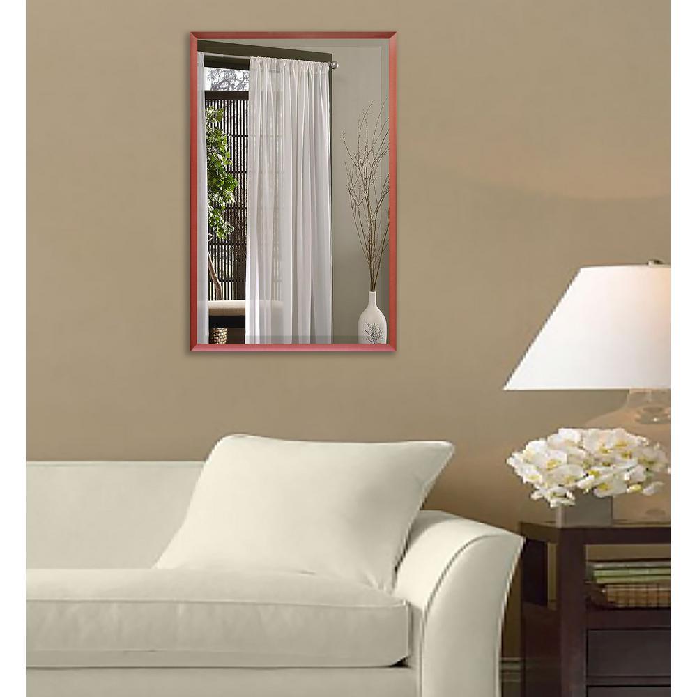 30.125 in. x 36.125 in. Spice Metal Framed Beveled Vanity/Wall Mirror