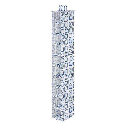 10-Shelf Blue And White Hanging Organizer