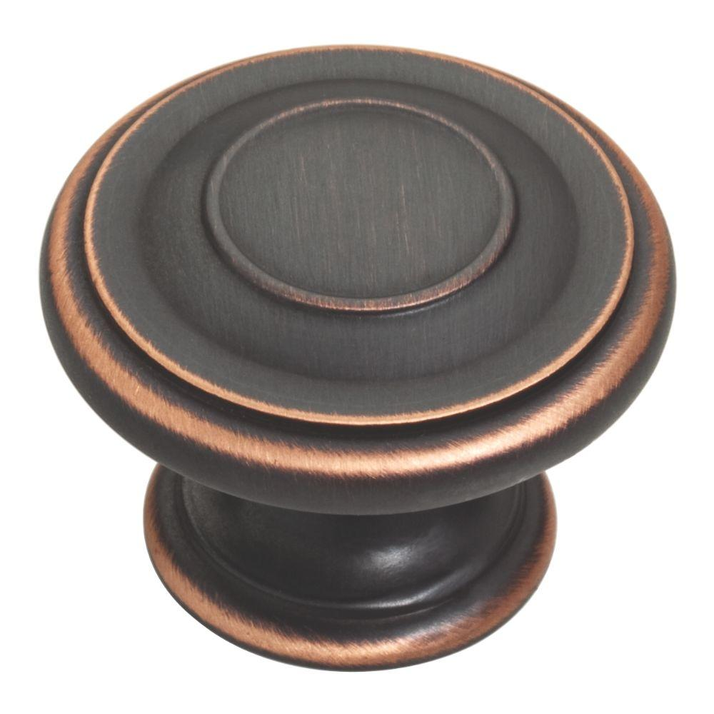 Liberty 1-3/8 in. Venetian Bronze with Copper Highlights Harmon Cabinet Knob