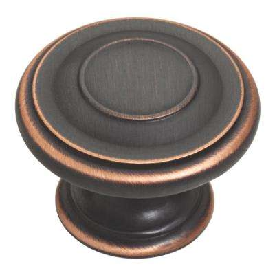 Harmon 1-3/8 in. (35mm) Bronze with Copper Highlights Round Cabinet Knob (10-Pack)