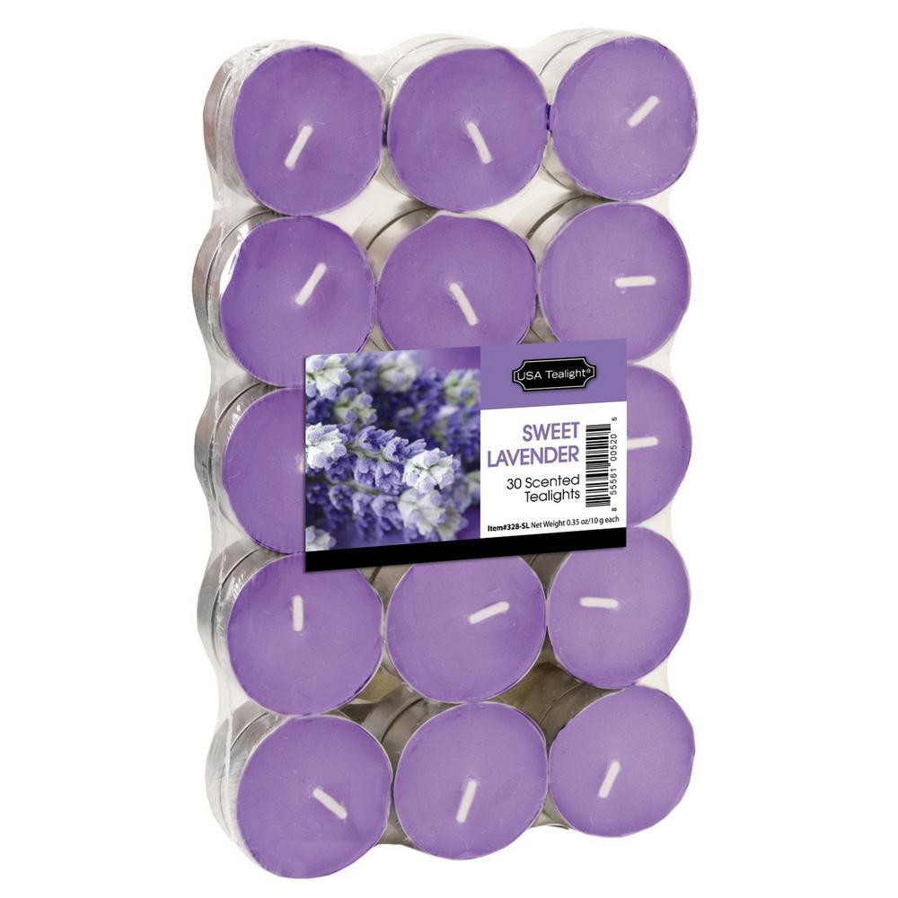 Sweet Lavender Tealight Candles (Set of 60)