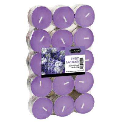 Sweet Lavender Tealight Candles (Set of 60)