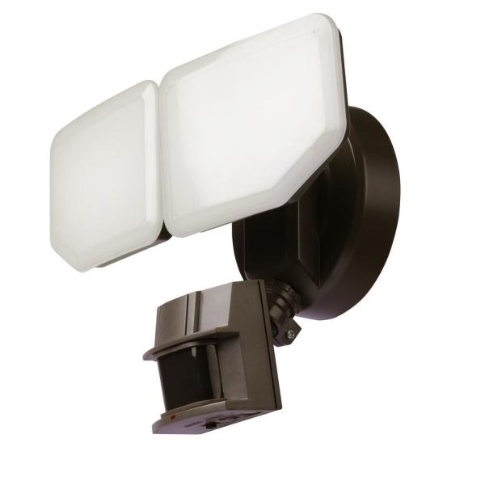 Awsens 30 Watt 180 Degree Bronze Motion Activated Outdoor Integrated Led Security Flood Light With Pir Dusk To Dawn Sensor Sl5462 Bz The Home Depot