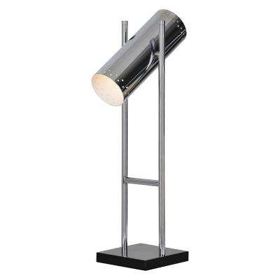Dispatch 26 in. Chrome Desk Lamp