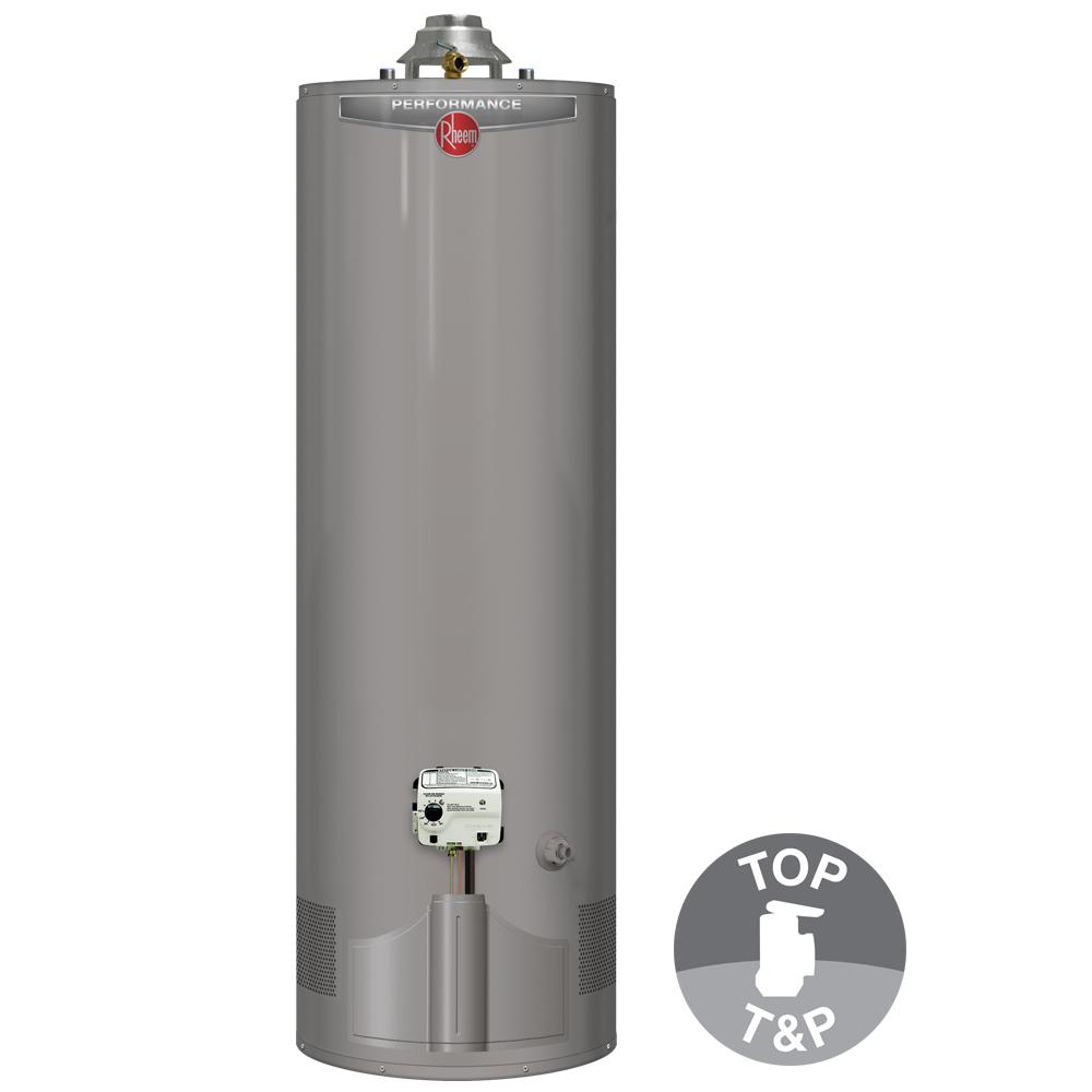 Rheem Performance 50 Gal Tall 6 Year 38 000 Btu Ultra Low