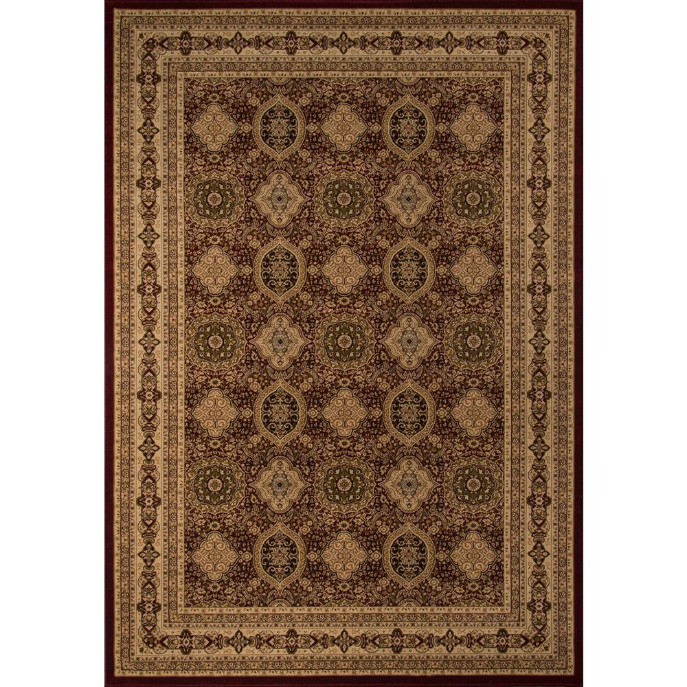Lovely Red 3 ft. 3 in. x 5 ft. Area Rug
