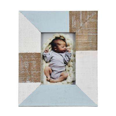 4 in. x 6 in. Loki Multi Color Block Wooden Picture Frame (Set of 2)