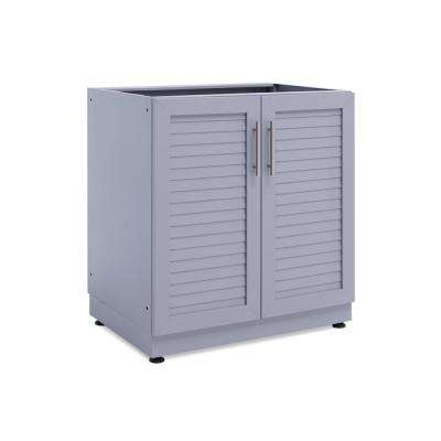 Coastal Gray 32 in. 2 Door Base 32 in. W x 36.5 in. H x 23 in. D Outdoor Kitchen Cabinet