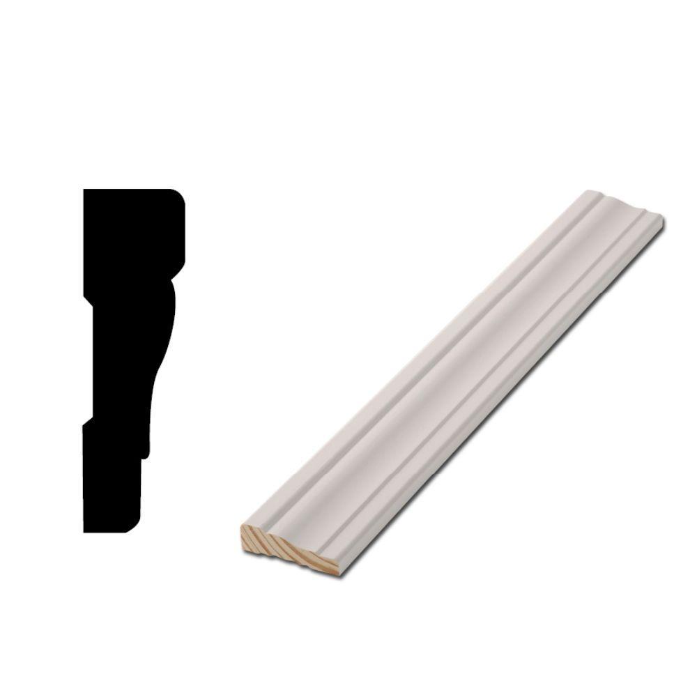WM 356 - 11/16 in. x 2-1/4 in. x 83-1/2 in. Primed Finger-Jointed Door Casing Moulding Set