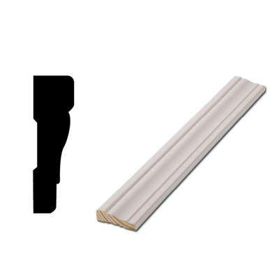 WM 356 - 11/16 in. x 2-1/4 in. x 83-1/2 in. Primed Finger-Jointed Door Casing Moulding Set