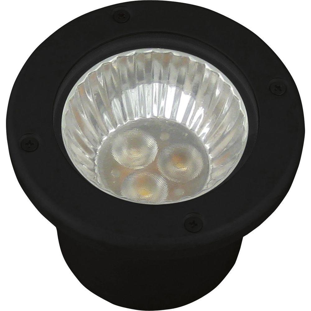 Low-Voltage LED 20-Watt Equivalent Black Outdoor Integrated LED Landscape Well Light