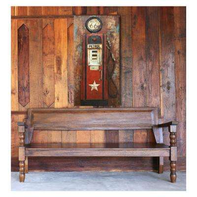 "24 in. x 47 in. ""Petrol Stop"" Metal Wall Art"