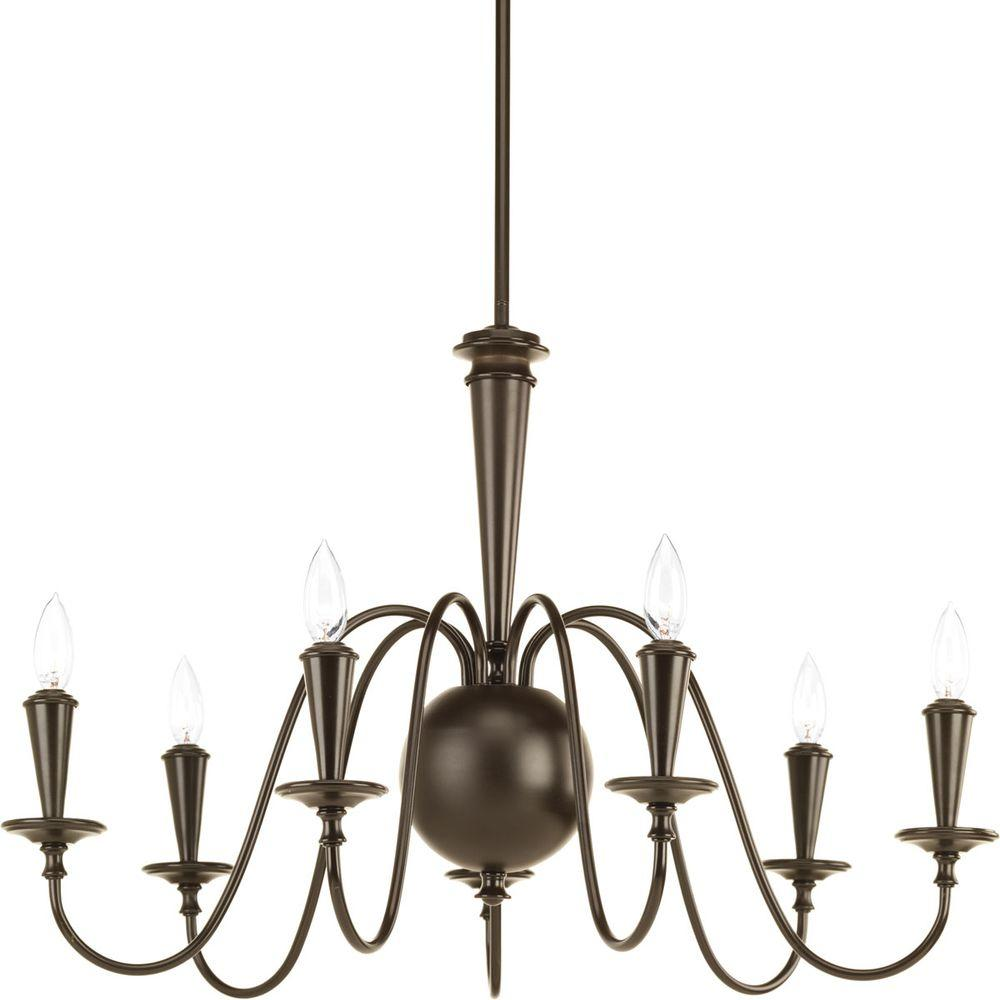 Progress lighting identity collection 7 light antique bronze progress lighting identity collection 7 light antique bronze chandelier arubaitofo Image collections