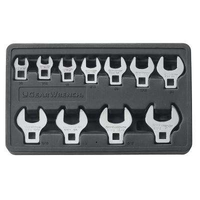 SAE Crowfoot Wrench Set (11-Piece)