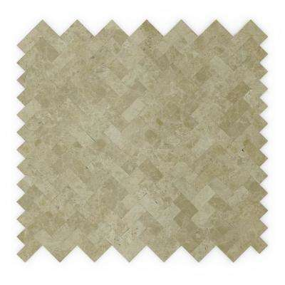 Macademia Beige 12 in. x 11.69 in. x 5 mm Stone Self Adhesive Mosaic Wall Tile (11.69 sq. ft. / case)