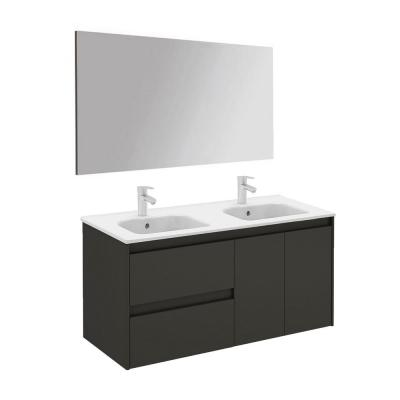 47.5 in. W x 18.1 in. D x 22.3 in. H Complete Bathroom Vanity Unit in Anthracite with Mirror