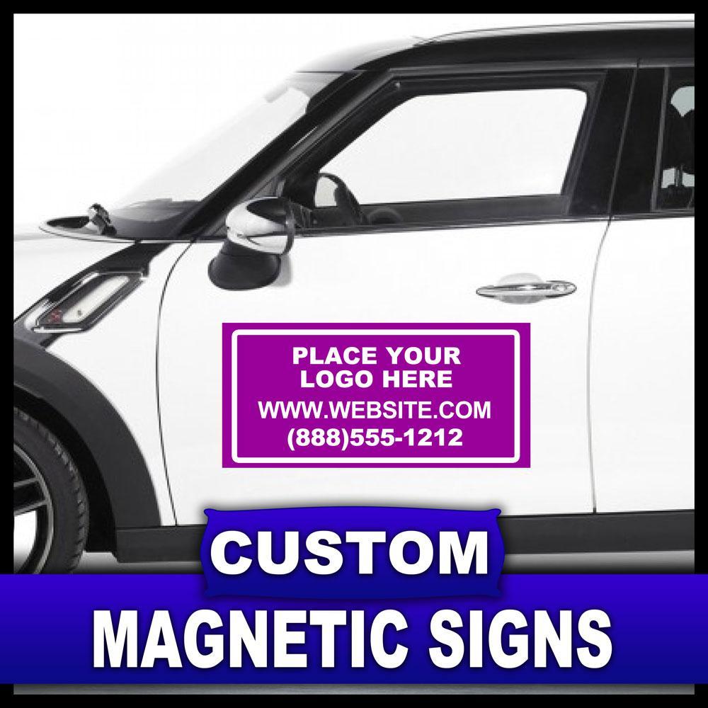 12 in. x 24 in. Custom Magnetic Sign
