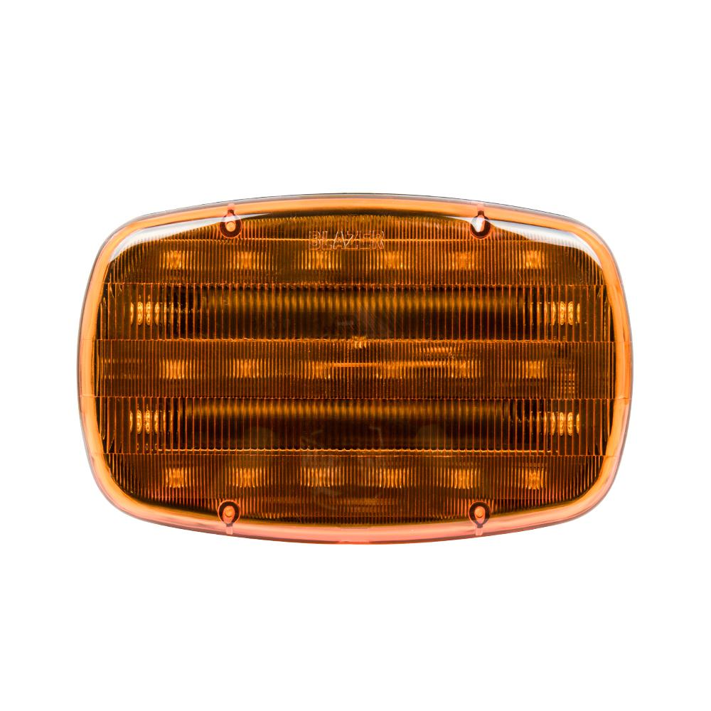 6-1/4 in. LED Dual Function Warning Lamp Amber with Magnetic Base