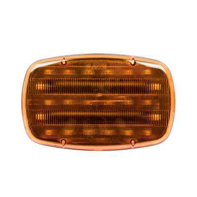 6-1/4 in. LED Dual Function Warning Lamp Amber with Magnetic Base (12-Pack)