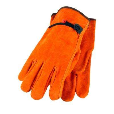 Straight Thumb X-Large Split Cowhide Leather Gloves with Ball and Tape (3-Pair)