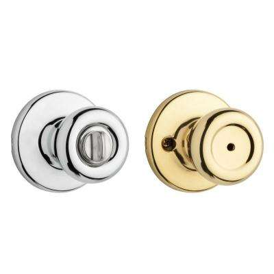 Tylo Polished Brass/Polished Chrome Privacy Bed/Bath Door Knob