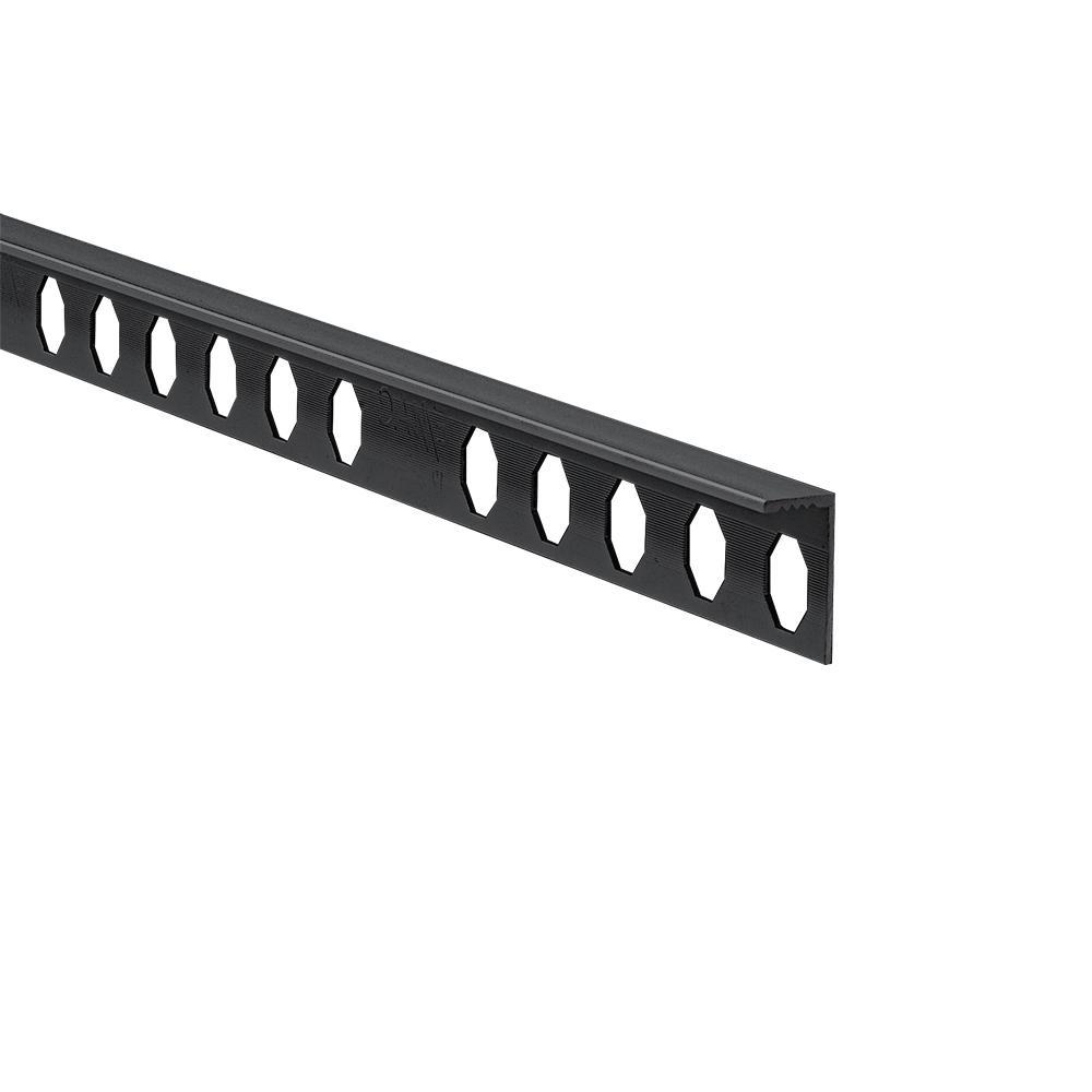 Novosuelo Matt Black 1/2 in. x 98-1/2 in. Aluminum Tile Edging Trim