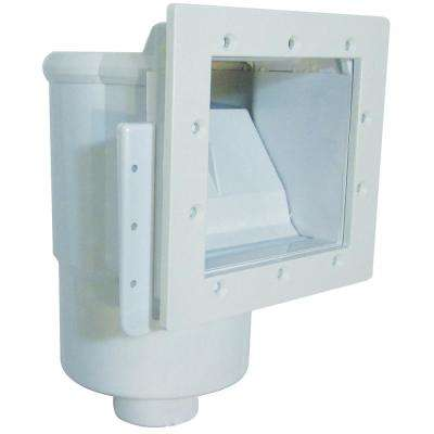 Dyna-Skim Low Profile Series 1.5 in. FPT Vinyl In Ground Skimmer Closed Front and Top Basket Access