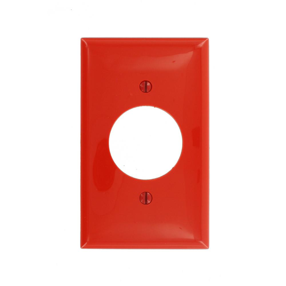 Red Tractor Plate Outlit : Leviton gang single receptacle standard size nylon