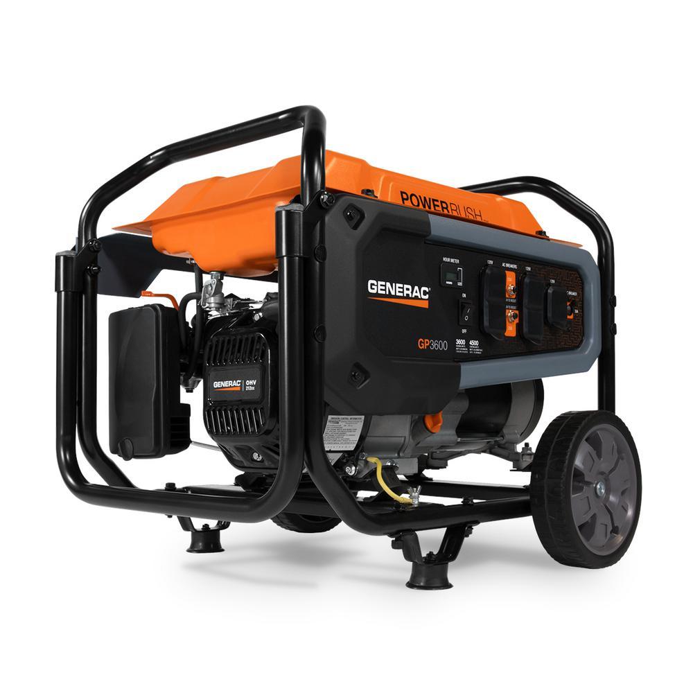 GP3600- 3600-Watt Gasoline Powered Portable Generator 49 /CSA