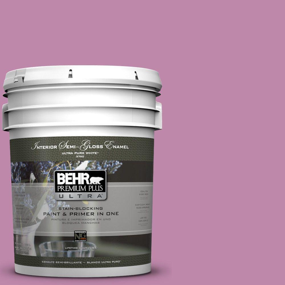 5-gal. #M120-5 Rosy Semi-Gloss Enamel Interior Paint