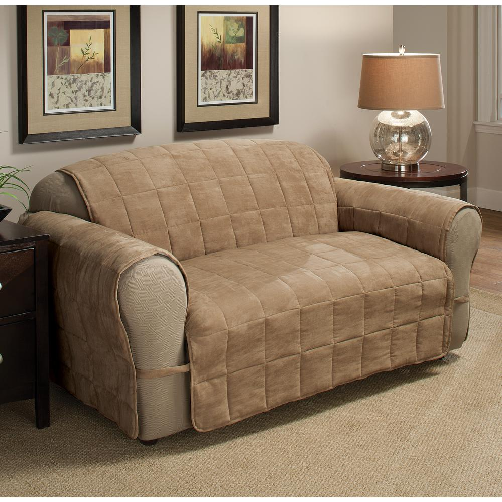 Camel Ultimate Faux Suede Xl Sofa Protector