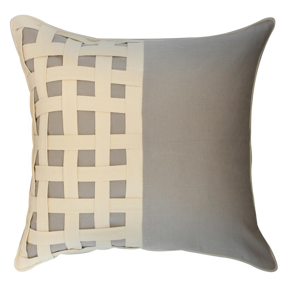 American Colors Basketweave appliqued pillow