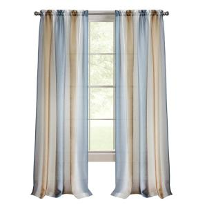 Spectrum 50 in. W x 63 in. L Polyester Light Filtering Window Panel in Silver/Gold