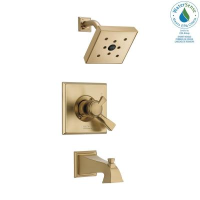 Dryden 1-Handle H2Okinetic Tub and Shower Faucet Trim Kit in Champagne Bronze (Valve Not Included)
