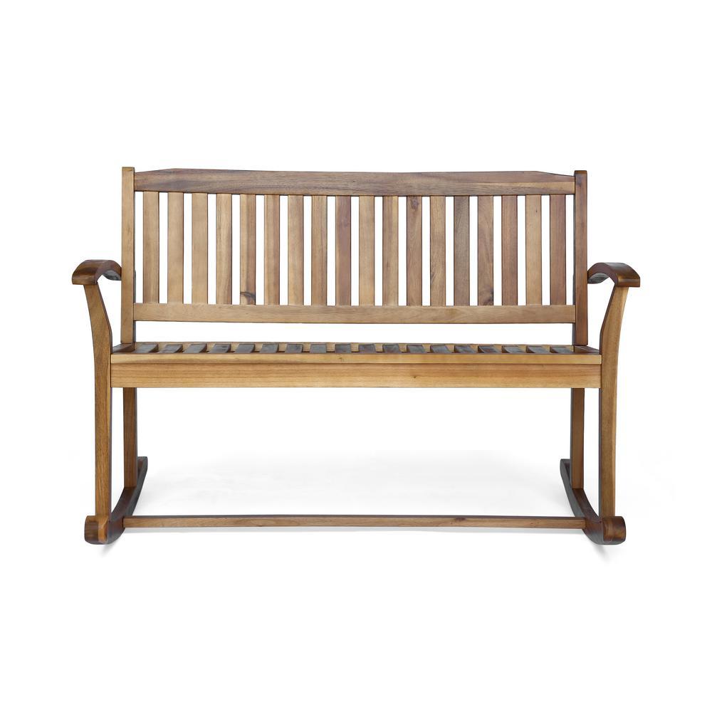 Regatta Natural Wood Outdoor Rocking Chair