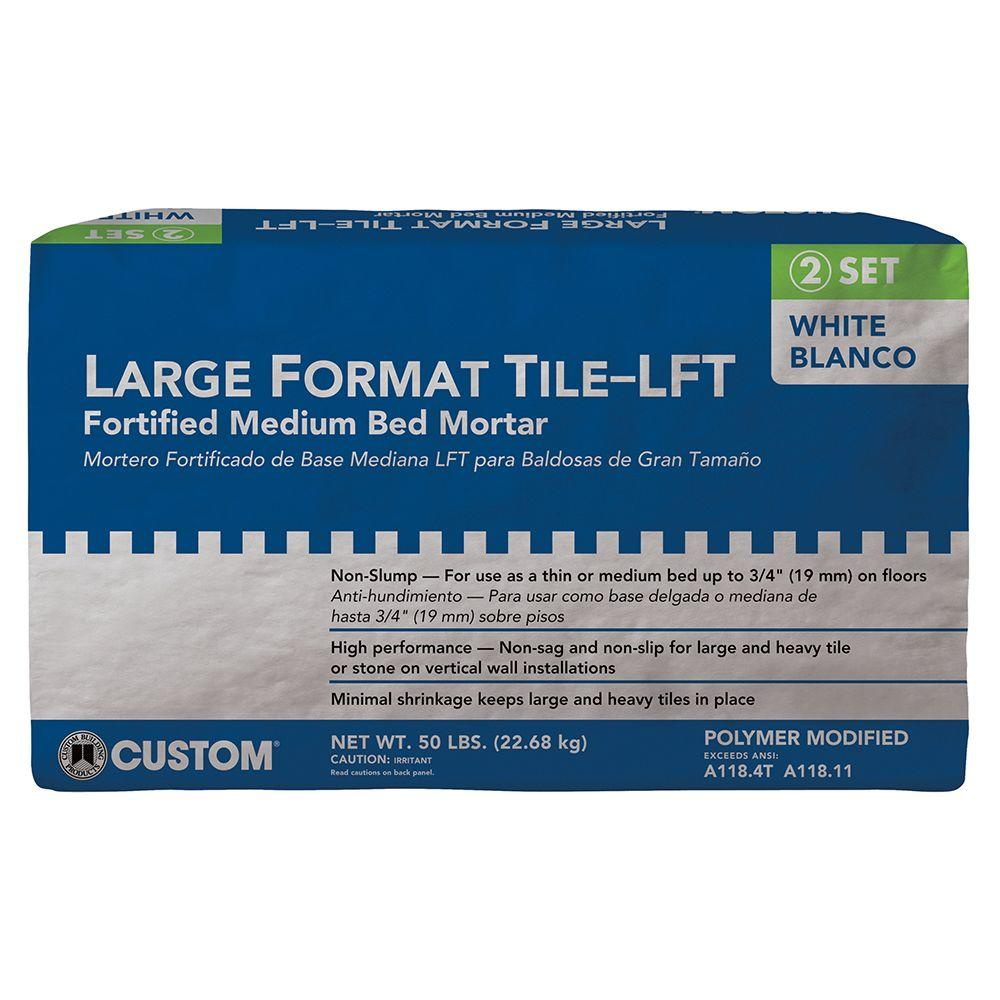 Custom Building Products Large Format 50 lb. White Tile Mortar