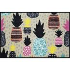 Whimsy Pineapple Punch 20 in. x 30 in. Nylon Doormat
